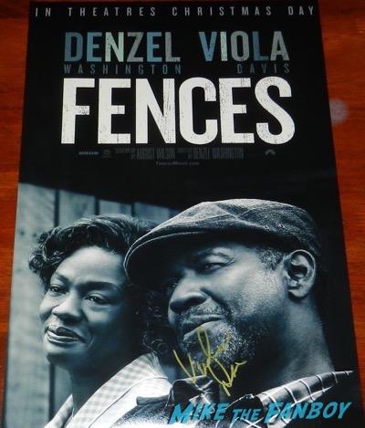 Viola Davis signed autograph fences poster