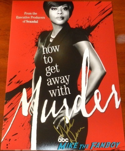 Viola Davis signed autograph how to get away with murder poster