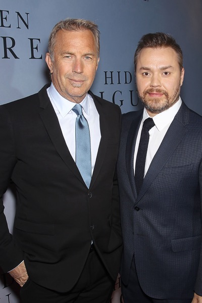 -  New York, NY - 12/10/16 - 20th Century Fox Celebrates 'HIDDEN FIGURES' with Special New York Screening Brought to you by IBM. -Pictured: Kevin Costner, Theodore Melfi (Director) -Photo by: Marion Curtis/Starpix -Location: SVA Theater