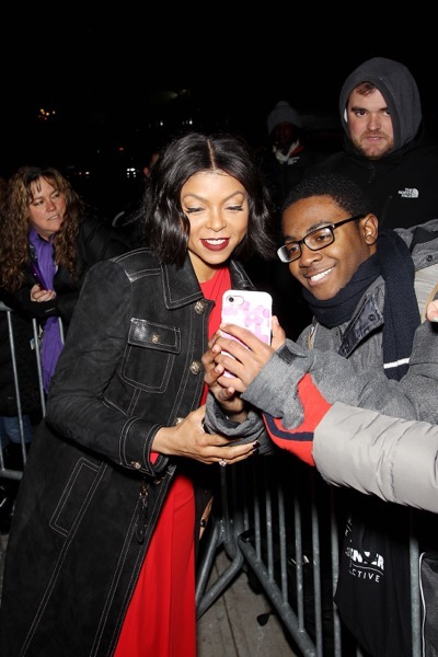 -  New York, NY - 12/10/16 - 20th Century Fox Celebrates 'HIDDEN FIGURES' with Special New York Screening Brought to you by IBM. -Pictured: Taraji P. Henson with Fans -Photo by: Marion Curtis/Starpix -Location: SVA Theater