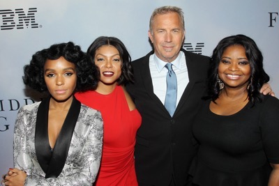 -  New York, NY - 12/10/16 - 20th Century Fox Celebrates 'HIDDEN FIGURES' with Special New York Screening Brought to you by IBM. -Pictured: Janelle Monae, Taraji P. Henson, Kevin Costner, Octavia Spencer -Photo by: Marion Curtis/Starpix -Location: SVA Theater