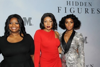 -  New York, NY - 12/10/16 - 20th Century Fox Celebrates 'HIDDEN FIGURES' with Special New York Screening Brought to you by IBM. -Pictured: Octavia Spencer, Taraji P. Henson, Janelle Monae -Photo by: Marion Curtis/Starpix -Location: SVA Theater