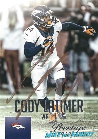 Cody Latimer signed Autograph football card PSA