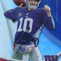 Eli Manning signed Autograph football card PSA