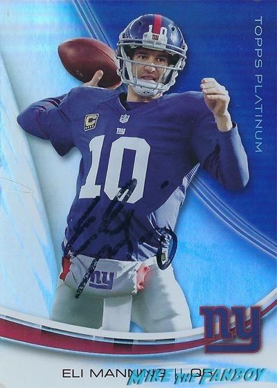 Eli Manning signed Autograph football card PSA