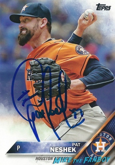 Pat Neshek signed Autograph baseball card PSA