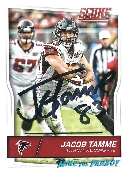 Jacob Tamme signed Autograph football card PSA
