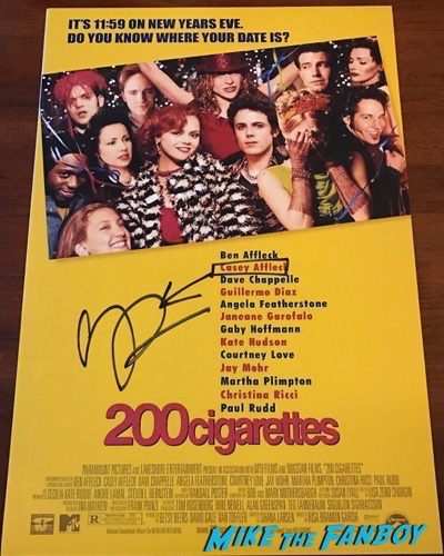 Casey Affleck signed Autograph 200 cigarettes poster 1