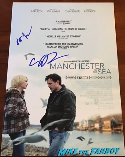 Casey Affleck signed Autograph Manchester by the sea poster 2