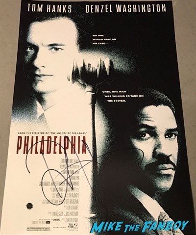 Denzel Washington signed autograph philadelphia poster psa
