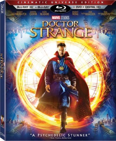 Doctor Strange blu ray cover promo