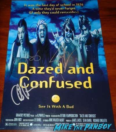Dazed and Confused signed autograph poster psa