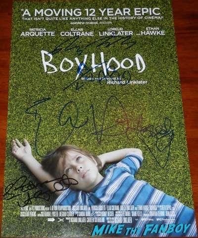 Boyhood signed autograph poster psa