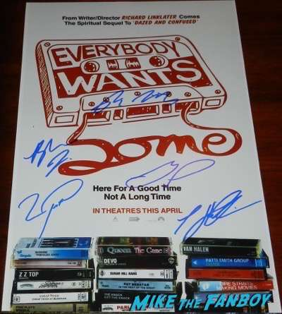 Everybody wants some signed autograph poster tyler hoechlin psa