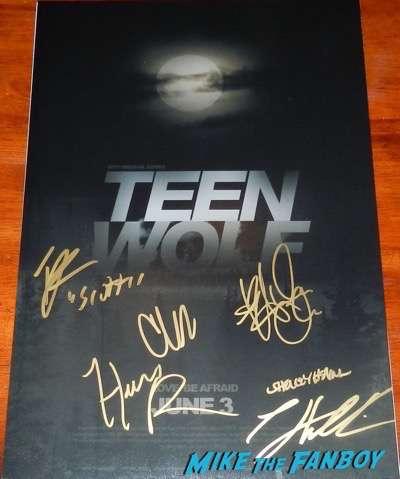 teen wolf signed autograph poster tyler hoechlin psa