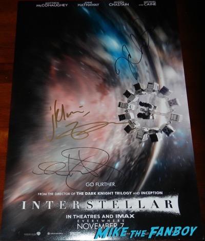 Matthew McConaughey signed autograph Interstellar poster