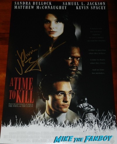 Matthew McConaughey signed autograph a time to kill poster