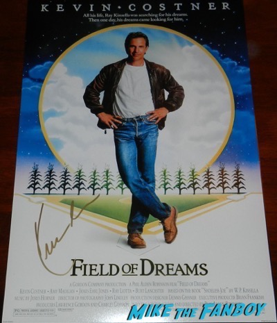 Kevin Costner signed autograph Field of dreams poster