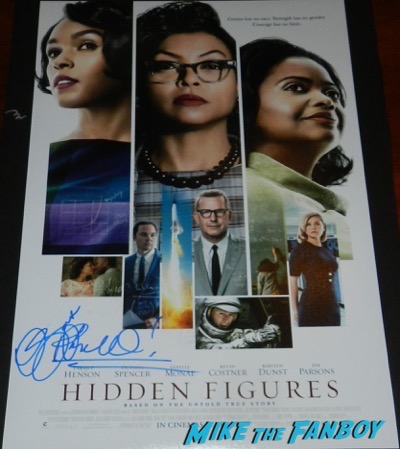 Octavia Spencer signed autograph Hidden Figures poster