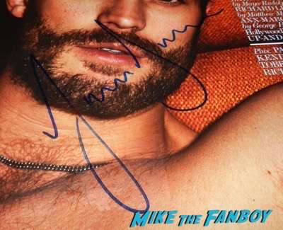 Jamie Dornan signed autograph interview magazine psa