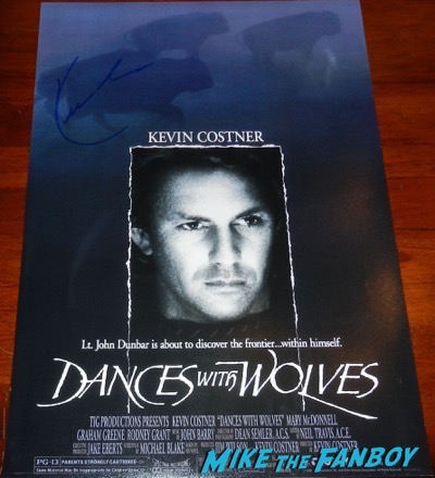 Kevin Costner signed autograph dances with wolves poster psa