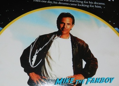 Kevin Costner signed autograph field of dreams poster psa