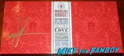 Nicole Kidman signed autograph moulin rouge red box set psa