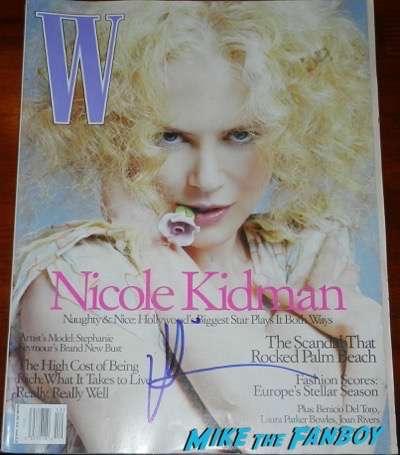 Nicole Kidman signed autograph W magazine psa