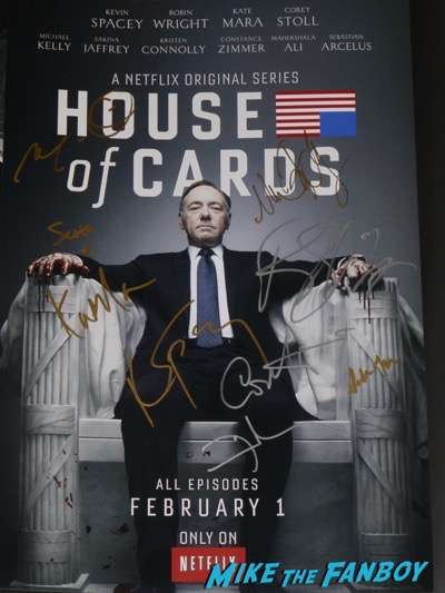 Mahershala Ali signed autograph house of cards poster