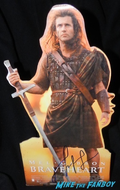 Mel Gibson signed autograph Braveheart Counter Stand standee poster psa