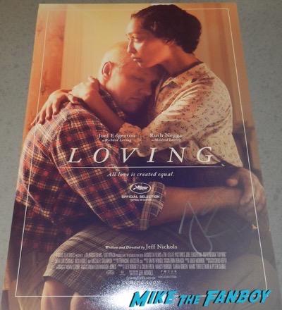 loving poster signed autograph joel edgerton psa