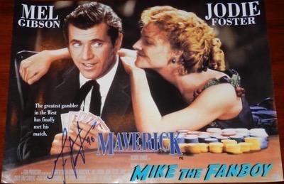 Mel Gibson signed autograph Maverick poster psa