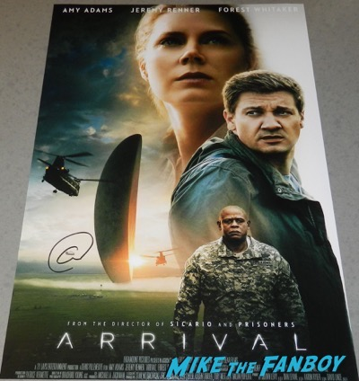 arrival poster signed autograph amy adams psa