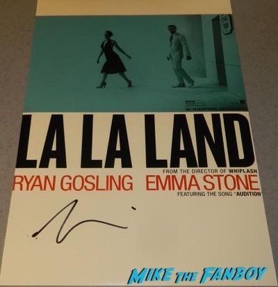 la la land poster signed autograph ryan gosling psa