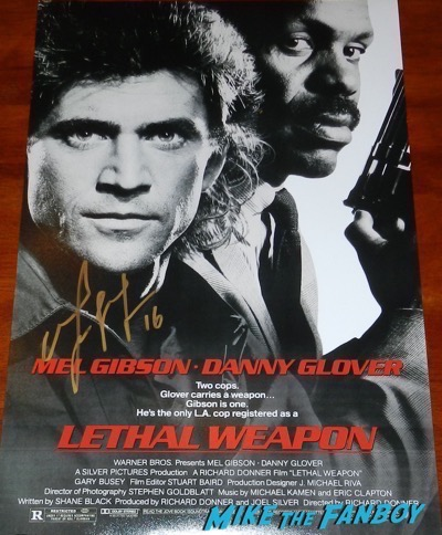 Mel Gibson signed autograph Lethal Weapon  poster psa
