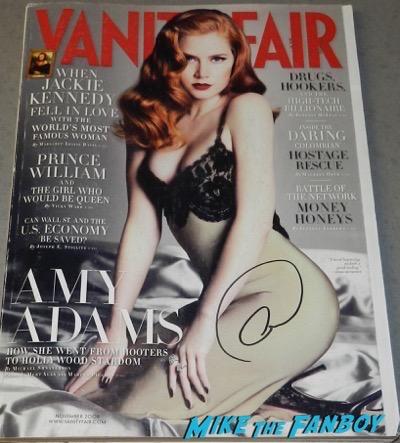 amy adams signed autograph vanity fair magazine psa