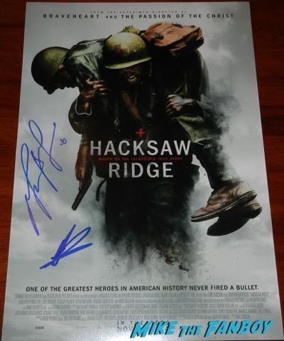 Mel Gibson signed autograph Hacksaw Ridge poster psa