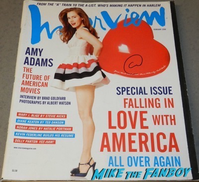 amy adams signed autograph interview magazine psa