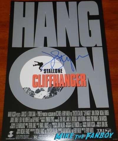 John Lithgow signed autograph cliffhanger poster psa