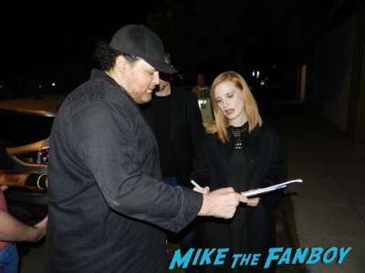 Miss Sloane q and a Jessica Chastain meeting fans signing autographs john lithgow 7
