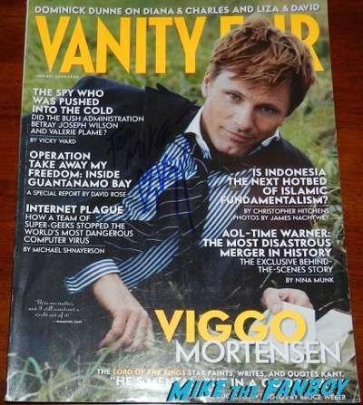 Viggo Mortensen signed autograph vanity fair magazine psa
