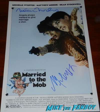 matthew modine signed autograph married to the mob poster michelle pfeiffer psa