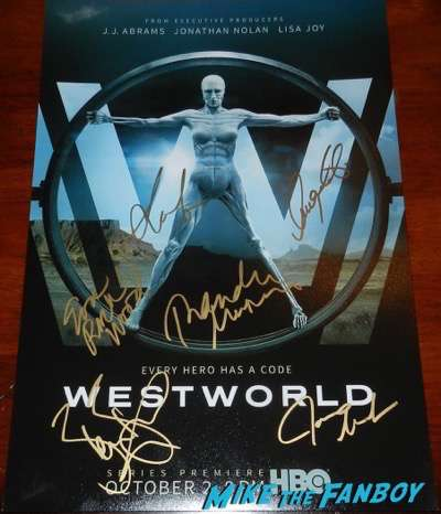 westworld signed autograph poster thandie newton evan rachel wood psa