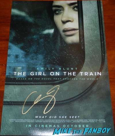 emily blunt signed autograph the girl on the train poster psa