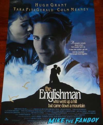 hugh grant signed the englishman who went up a hill poster psa