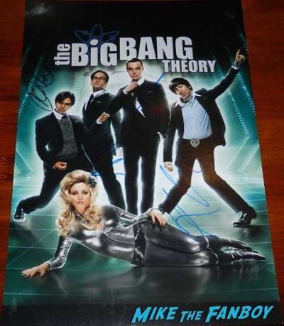 Jim parsons signed autograph the big bang theory poster