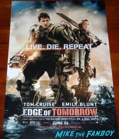 Emily Blunt signed autograph edge of tomorrow poster