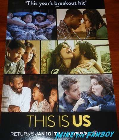 sterling k brown signed this is us poster psa