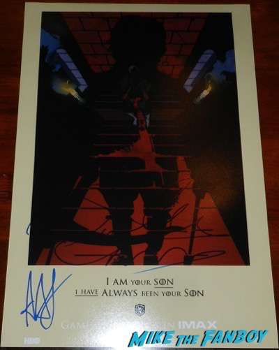 game of thrones signed autograph poster