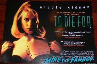 nicole kidman signed autograph to die for uk quad poster psa